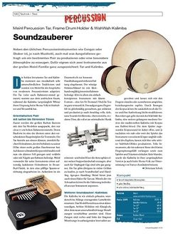 DrumHeads Instrumente & Technik: Meinl Percussion Tar, Frame Drum Holder & WahWah Kalimba
