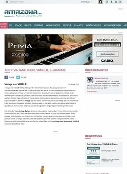 Amazona.de Test: Vintage Icon, V6MRLB, E-Gitarre
