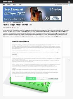 Bonedo.de Palmer Triage Amp-Selector
