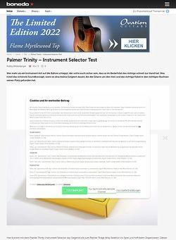 Bonedo.de Palmer Trinity Instrument Selector