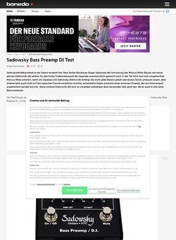 Bonedo.de Sadowsky Bass-Preamp DI