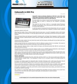MusicRadar.com Cakewalk A-300 Pro