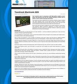 MusicRadar.com Toontrack Electronic EZX