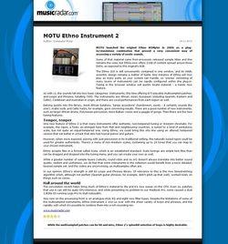 MusicRadar.com MOTU Ethno Instrument 2