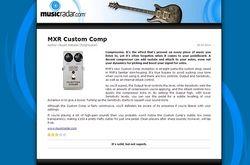 MusicRadar.com MXR Custom Comp