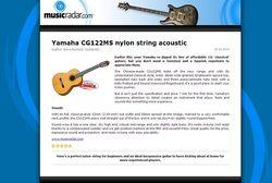 MusicRadar.com Yamaha CG122MS nylon string acoustic