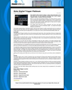MusicRadar.com Slate Digital Trigger Platinum