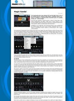 MusicRadar.com Magix Vandal