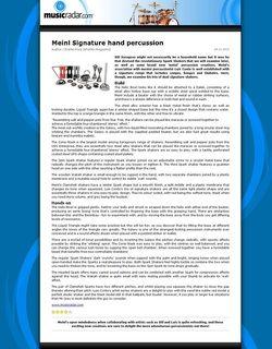 MusicRadar.com Meinl Signature hand percussion