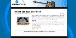 MusicRadar.com MXR M-181 Bass Blow Torch