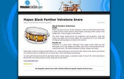 MusicRadar.com Mapex Black Panther Velvetone Snare