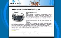 MusicRadar.com Mapex Black Panther Phat Bob Snare