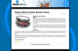 MusicRadar.com Mapex Black Panther Blaster Snare