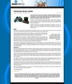 MusicRadar.com Hardcase drum cases