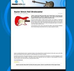 MusicRadar.com Squier Simon Neil Stratocaster
