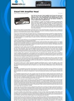 MusicRadar.com Diezel VH4 Amplifier Head