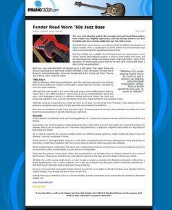 MusicRadar.com Fender Road Worn '60s Jazz Bass