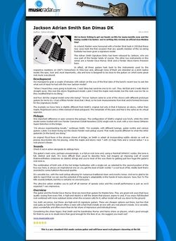 MusicRadar.com Jackson Adrian Smith San Dimas DK
