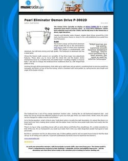 MusicRadar.com Pearl Eliminator Demon Drive P-3002D