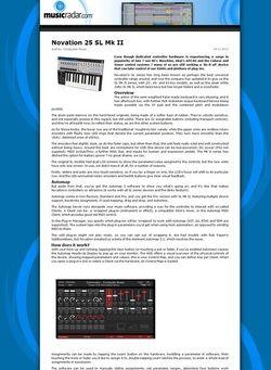 MusicRadar.com Novation 25 SL Mk II