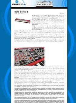 MusicRadar.com Nord Electro 3