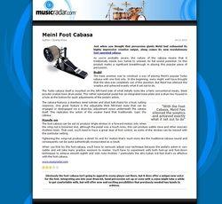 MusicRadar.com Meinl Foot Cabasa