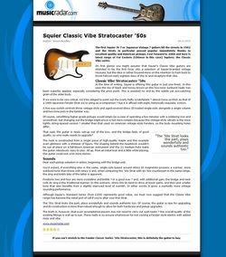 MusicRadar.com Squier Classic Vibe Stratocaster '50s