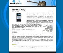 MusicRadar.com Boss DD-7 Delay