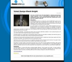 MusicRadar.com Violet Design Black Knight