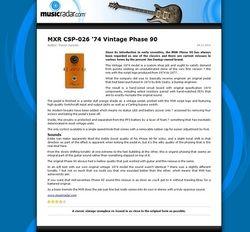 MusicRadar.com MXR CSP-026 '74 Vintage Phase 90