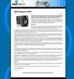 MUSICRADAR.com KRK Systems VXT4