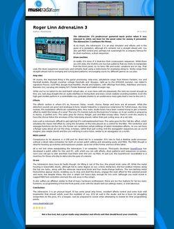 MusicRadar.com Roger Linn AdrenaLinn 3