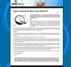 MusicRadar.com Remo Powersonic Bass Drum Head 22