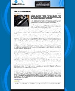 MusicRadar.com EVH 5150 III Head