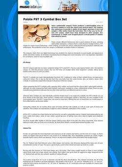 MusicRadar.com Paiste PST 3 Cymbal Box Set