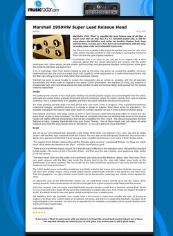MusicRadar.com Marshall 1959HW Super Lead Reissue Head