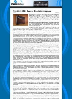 MusicRadar.com Vox AC30CC2X Custom Classic 2x12 combo