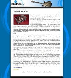 MusicRadar.com Tascam CD-GT2