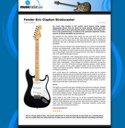 MusicRadar.com Fender Eric Clapton Stratocaster