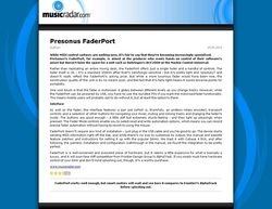 MusicRadar.com Presonus FaderPort