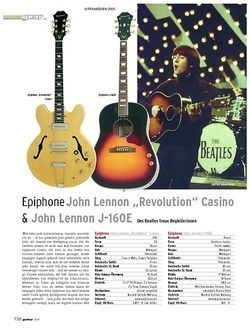 """Guitar Test: Epiphone John Lennon """"Revolution"""" Casino & John Lennon J-160E"""