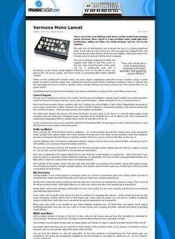 MusicRadar.com Vermona Mono Lancet