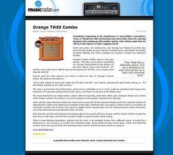 MusicRadar.com Orange TH30 Combo