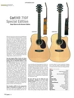 Guitar Test: Cort MR 710F Special Edition Stage-Gitarren