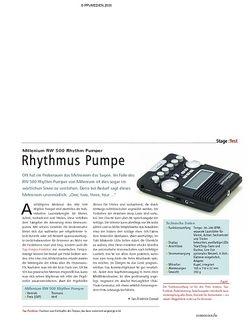 Soundcheck Test - Millenium RW 500 Rhythm Pumper