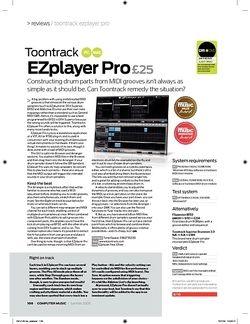 Computer Music Toontrack EZPlayer Pro
