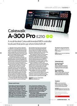 Computer Music Cakewalk A300 Pro