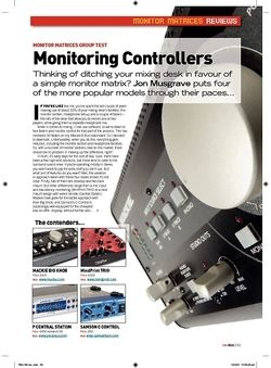 Future Music Monitoring Controllers  Mackie Big Knob