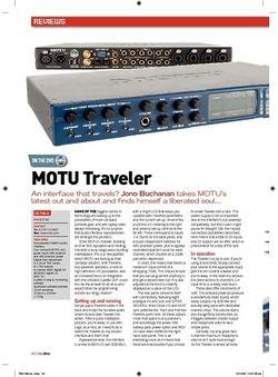 Future Music MOTU Traveler