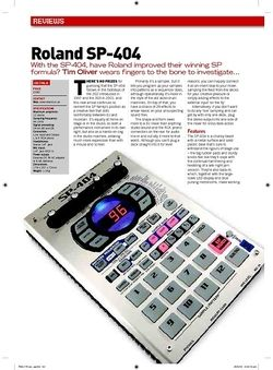 Future Music Roland SP404